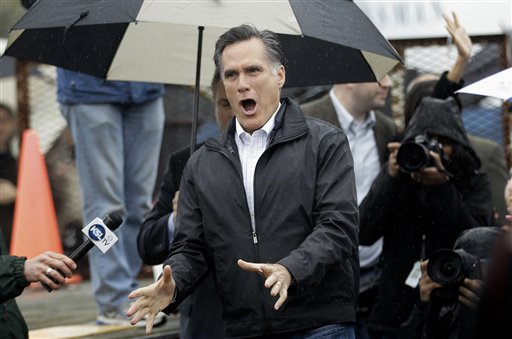 Republican presidential candidate Mitt Romney arrives at a campaign stop in Gilbert, S.C., on Friday.