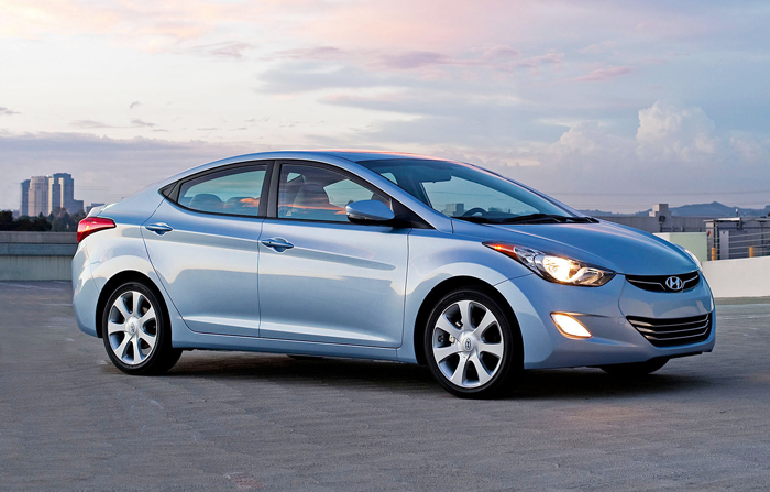 The 2012 Hyundai Elantra was voted Car of the Year at the North American International Auto Show in Detroit today.