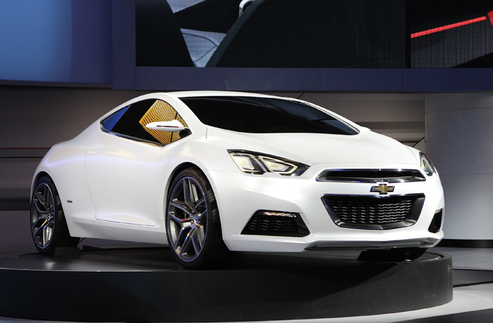 The Chevrolet Tru 140S Concept Coupe is on exhibit at the North American International Auto Show in Detroit today.
