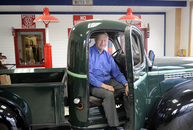 Dan Bailey sits in the cab of a 1945 Chevy pickup his grandfather, Percy, originally sold at his family's auto dealership in Gardiner. The Bailey's have been selling cars in the community for 84 years.