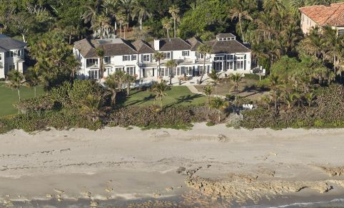 Elin Nordegren, ex-wife of Tiger Woods, had this $12 million Florida home razed to build a new home on the property.