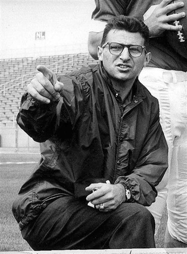 A Jan. 28, 1965, photo of Paterno when he was associate football coach at Penn state.