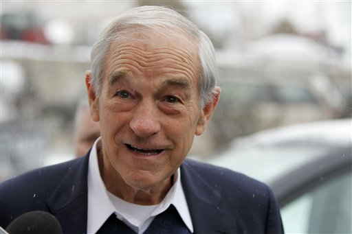 Republican presidential candidate, Rep. Ron Paul, R-Texas, campaigns in Bangor today.