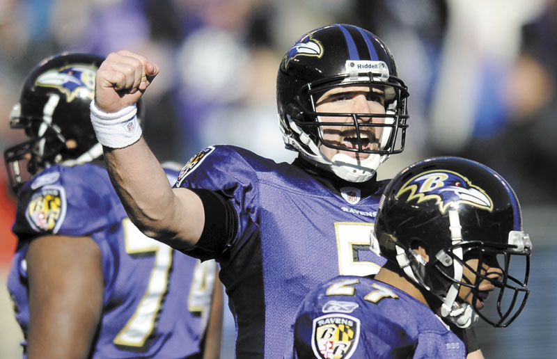 ON THE ROAD AGAIN: Baltimore Ravens quarterback Joe Flacco will lead his team to Foxborough, Mass. to face the New England Patriots in the AFC Championship game. The Ravens are 4-4 on the road this season.