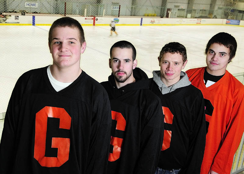SENIOR LEADERSHIP: Gardiner Area High School seniors, from left, Cody Hickey, Jeff McAuslen, Cam Sullivan and Bryant Whitley have helped turn the Tigers into a playoff contender for the first time in three years.