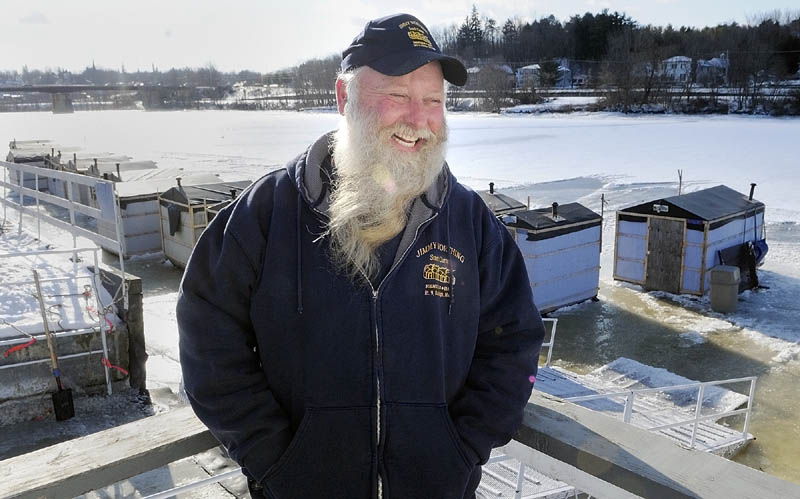 Jimmy Worthing, who operates a commercial smelt camp on the Kennebec River in Randolph, said he has about 85 camps out on the ice.