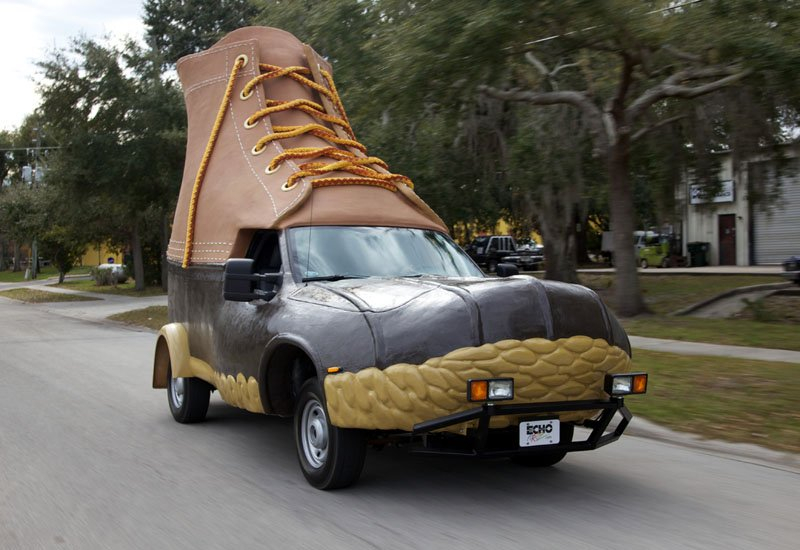 The so-called Bootmobile is driven down a street in Kissimmee, Fla. In 1912 L.L. Bean sold his first pair of boots. The privately held company expects to have $1.5 billion in sales in its 2011 fiscal year. The bootmobile was created to help the company celebrate being in business for 100 years.