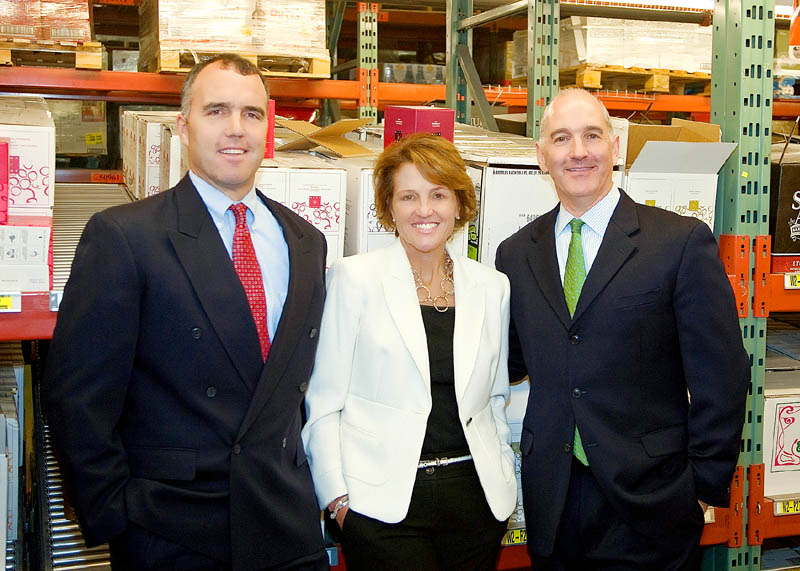Keith Canning, left, Gena Canning and Nick Alberding from Pine State Trading will be awarded the Kennebec Valley Chamber of Commerce's Business of the Year Award. pine state
