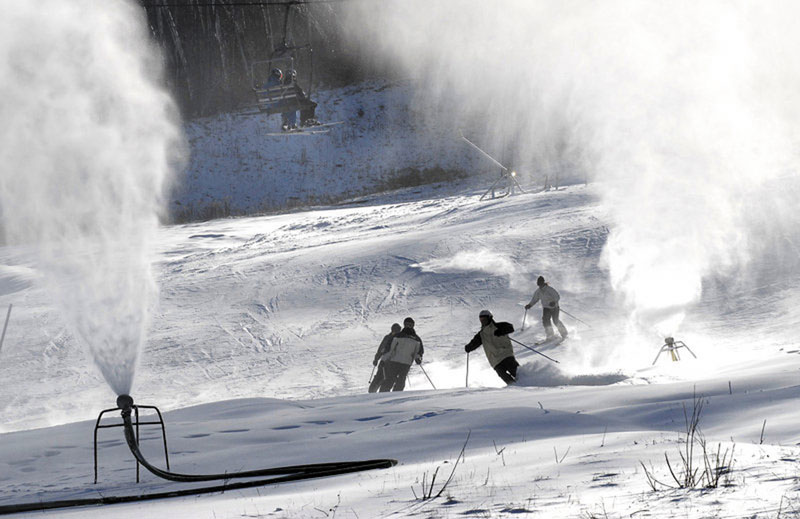 MAKING SNOW: Snowmaking's long history in Maine dates back to the 1960s when the ingenuity of Otto Wallingford at Auburn's Lost Valley would help revolutionize the ski industry nationwide.