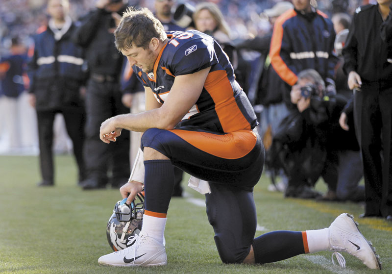 IMPRESSIVE SEASON: Quarterback Tim Tebow has led the Broncos to 8-4 record since taking over as their starter. He led the Broncos to a 29-23 win over the Pittsburgh Steelers in overtime in the Wild Card round. NFLACTION11