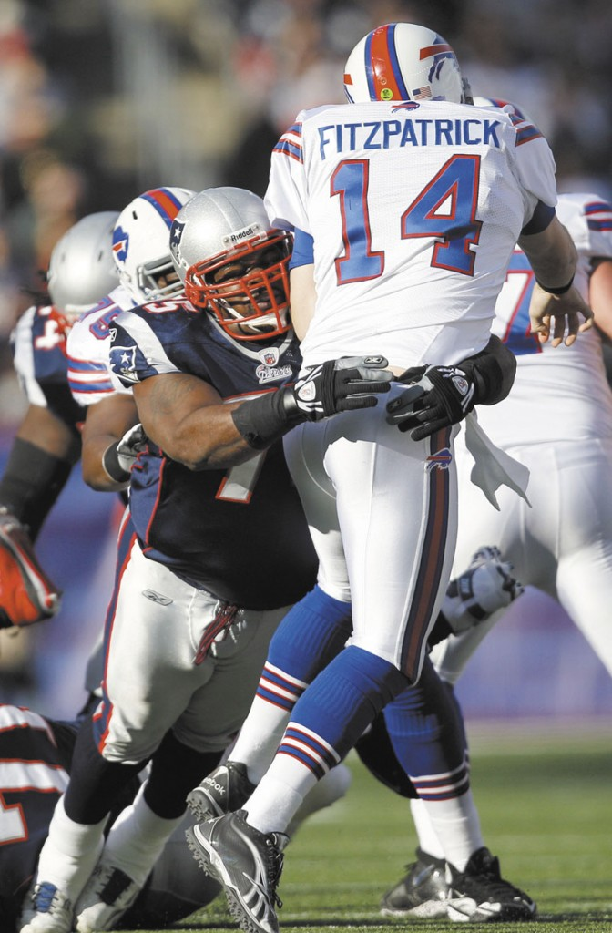 BUSY MAN: New England Patriots nose tackle Vince Wilfork is busy preparing for the AFC Championship game and being a father and a husband. Wilfork and his wife Bianca have three children, D'Audre, Destiny and David Dream-Angel.