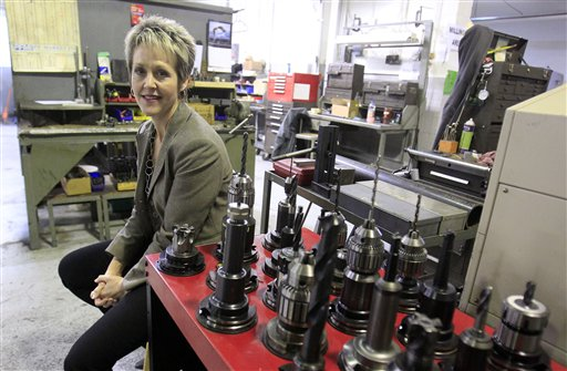 Laurie Schmald Moncrieff, president of Schmald Tool and Die in Burton, Mich., says she just added six workers and may hire another five.