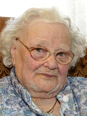 A Feb. 19, 2010, photo of Florence Green on her 109th birthday.