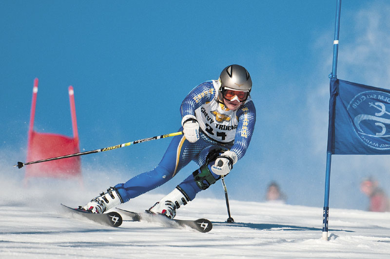 SPEED: Mt. Abram's Erin Luce skis the Lower Androscoggin giant slalom course Wednesday morning at Black Mountain. Luce won the Mountain Valley Conference giant slalom title.