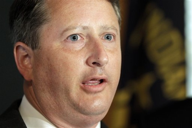 This June 2011, file photo shows Indiana Secretary of State Charlie White in Indianapolis. (AP Photo/Darron Cummings)