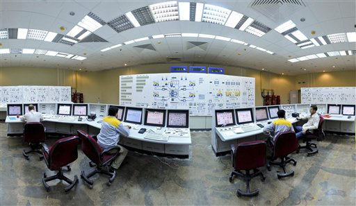 A November 2009 photo from the semi-official Iranian Students News Agency shows technicians at work at the Bushehr Nuclear Power Plant, just outside the southern port city of Bushehr, Iran.