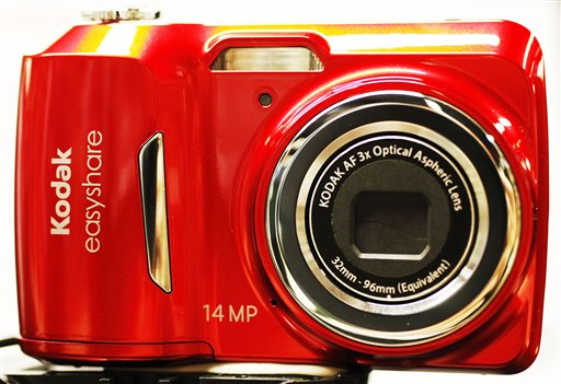 A Kodak Easyshare digital camera is on display at B&H Photo & Video, in New York, in this Jan. 5, 2012 photo. Eastman Kodak Co. said today it will stop making digital cameras, pocket video cameras and digital picture frames in order to focus on its more profitable businesses.