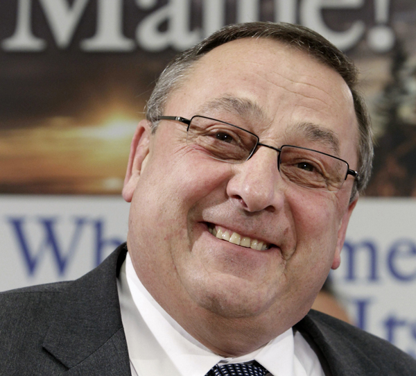 Gov. Paul LePage is in Washington this weekend for the National Governors Association's winter meeting.
