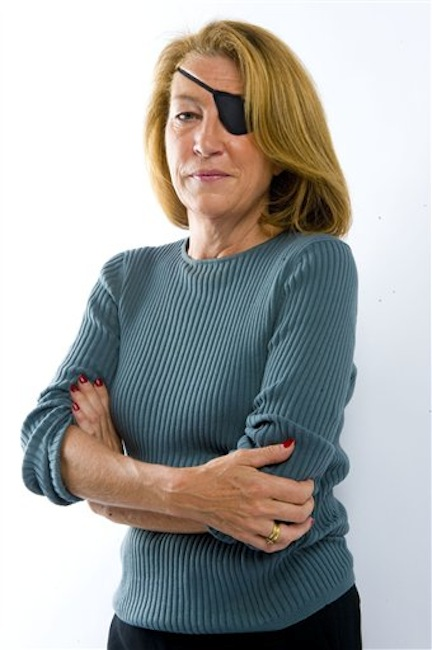 This image was made available Wednesday by the Sunday Times in London of journalist Marie Colvin. A French government spokeswoman on Wednesday identified the two Western reporters killed in Homs, Syria as American war reporter Marie Colvin and French photojournalist Remi Ochlik . (AP Photo/Sunday Times)