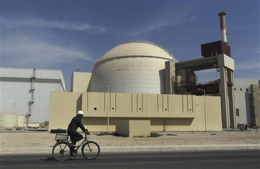 An Oct. 26, 2010, photo of the reactor building of the Bushehr nuclear power plant, just outside the southern city of Bushehr, Iran. For the first time in nearly two decades of escalating tensions over the Iranian nuclear program, world leaders are genuinely concerned that an Israeli military attack on the Islamic Republic could be imminent.
