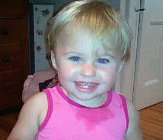 This undated photo obtained from a Facebook page shows missing toddler Alya Reynolds. The 22-month-old girl was last seen the night of Dec. 16.