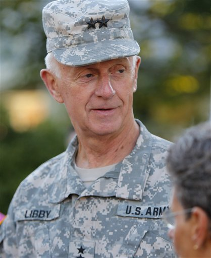 In this Sept, 2011, photo, Maj. Gen. John Libby, the head of the Maine National Guard, appears in Freeport.