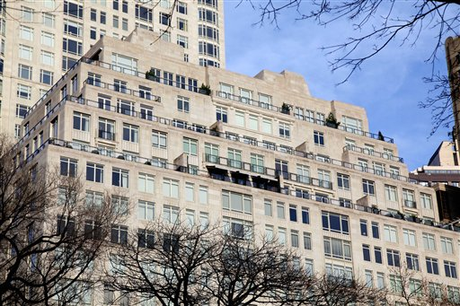The building at 15 Central Park West where the family of a Russian billionaire has bought a penthouse apartment for $88 million.