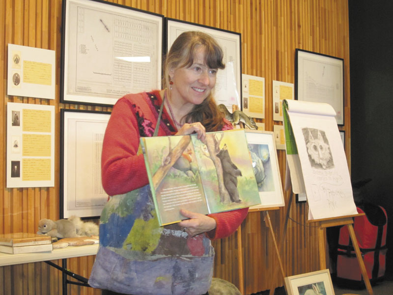 SERIES BEGINS: Rebekah Raye, award-winning Maine illustrator and art teacher, launched the Friends of the Maine State Museum annual series of talks and programs at the museum on Saturday.