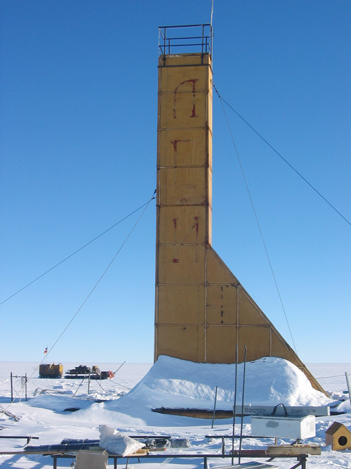 This 2007 photo provided by the Arctic and Antarctic Research Institute of St. Petersburg shows the Russian drilling machine 5-G in Antarctica.