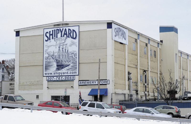 FREE WATER: The Shipyard Brewing Co. building in Portland is shown Thursday. City employees discovered a year ago that it was not billing the brewery for a 6-inch water line installed in 1996.