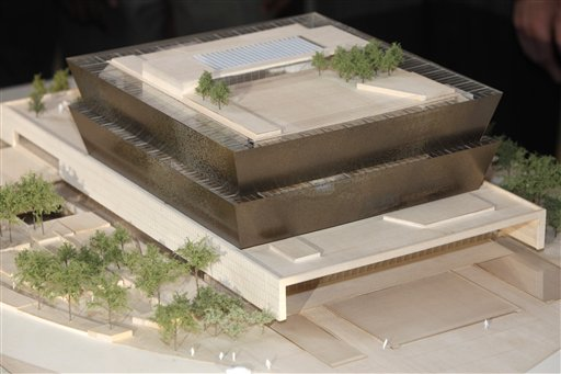 An undated file photo showing the winning design concept for the National Museum of African American History and Culture.
