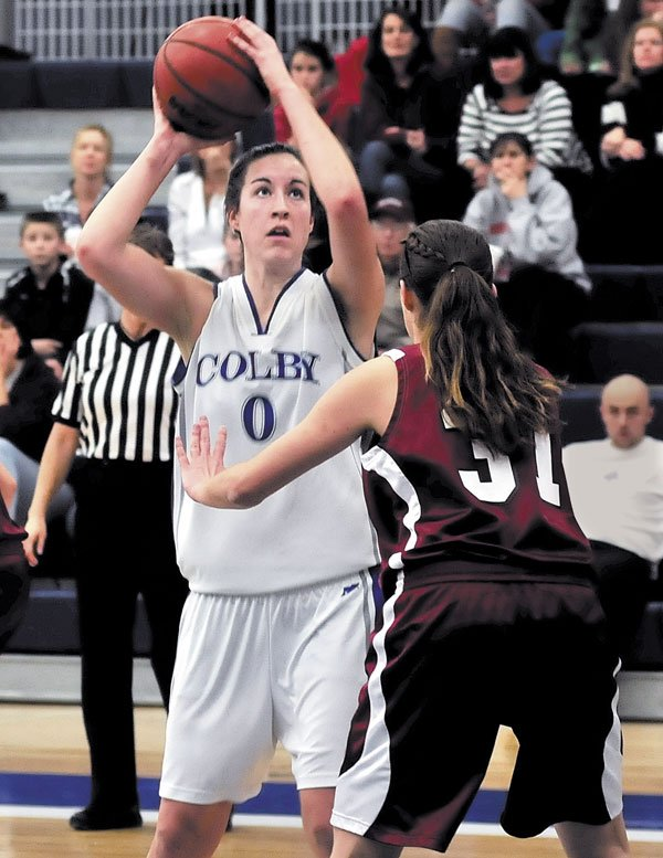 IMPACT PLAYER: Colby College's Rachael Mack, a Cony High School graduate who scored her 1,000th career point earlier this season, has played her last game for the Mules. Colby did not receive an at-large bid to the NCAA Division III tournament.
