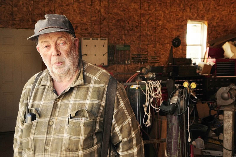 """Richard Wing, who ran Wing's Garage on Riverside Drive for 43 years, bought a house on Togus Road in his native Chelsea and his son built a garage for him. """"I should have got more for the whole thing,"""" said Wing, 79. """"They wanted to put me in a trailer, and I wouldn't let them."""""""