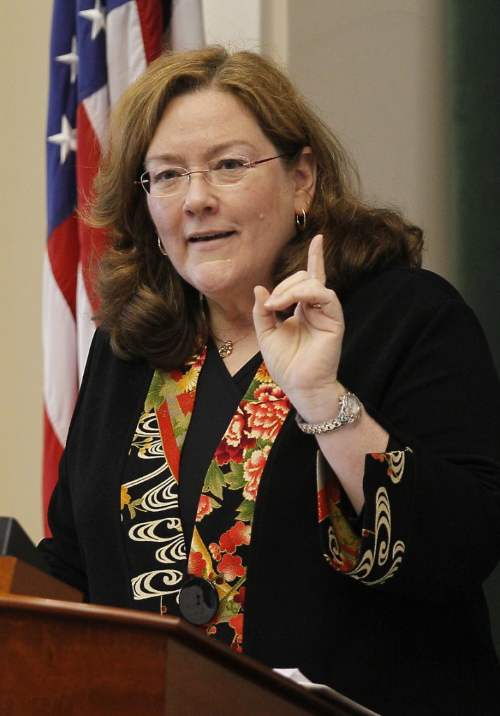 LEADER SPEAKS: Maine Chief Justice Leigh Ingalls Saufley makes her annual State of the Judiciary address on Thursday at the State House in Augusta.