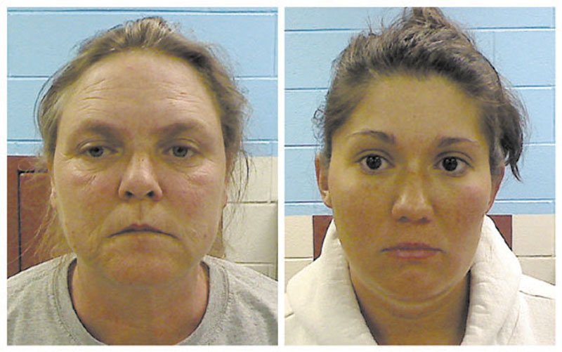 CHARGED: This combo made from photos released Wednesday by the Etowah County Sheriff's Dept. shows Joyce Hardin Garrard, 46, left, and Jessica Mae Hardin, 27. Garrard and Hardin, grandmother and stepmother of 9-year-old Savannah Hardin, have been charged with murder.