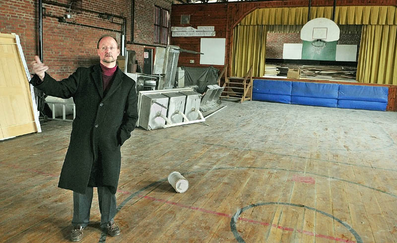 David Kinglsey, president of Maine Senior Care LLC., has plans to develop the former Shedlon Street School in Farmingdale.