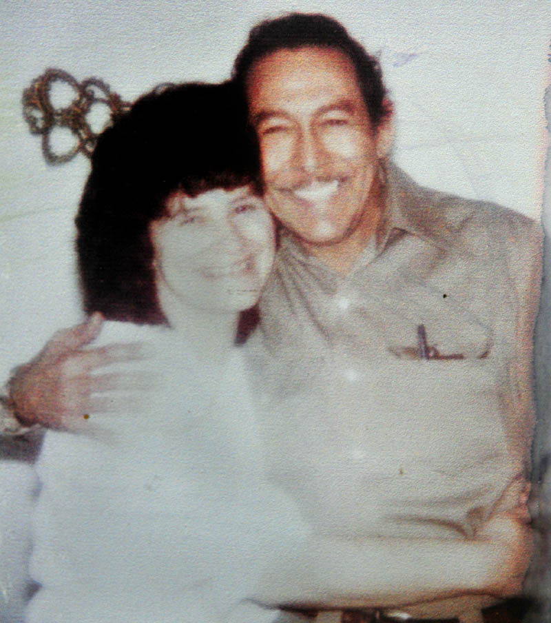 This 1980 photo shows Evelyn White, left, and Don Lucero when they first started dating back in 1980. This year they decided to get married on Valentine's Day after being together for 32 years.