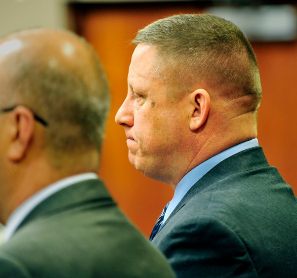 A Jan. 21, 2012, photo of Maine State Police trooper Robin Parker in District Court.