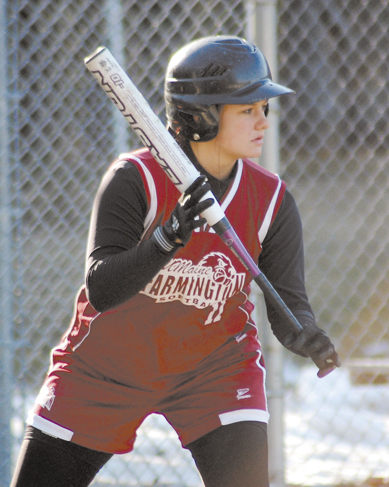 "HOMESICK: Amy Jones began her collegiate career at the University of Maine at Farmington, but transferred to Armstrong Atlantic State University in Savannah, Ga. Now she's back. ""Being 1,200 miles away from family was really hard for me,"" she said. softball at Bowdoin"