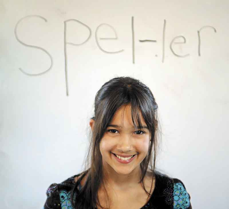 SPELLER: Ariana Cousins was Kennebec County's representative at the Maine State Spelling Bee on Saturday.
