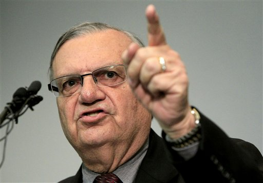 Maricopa County Sheriff Joe Arpaio speaks to the media in Phoenix in December 2011.