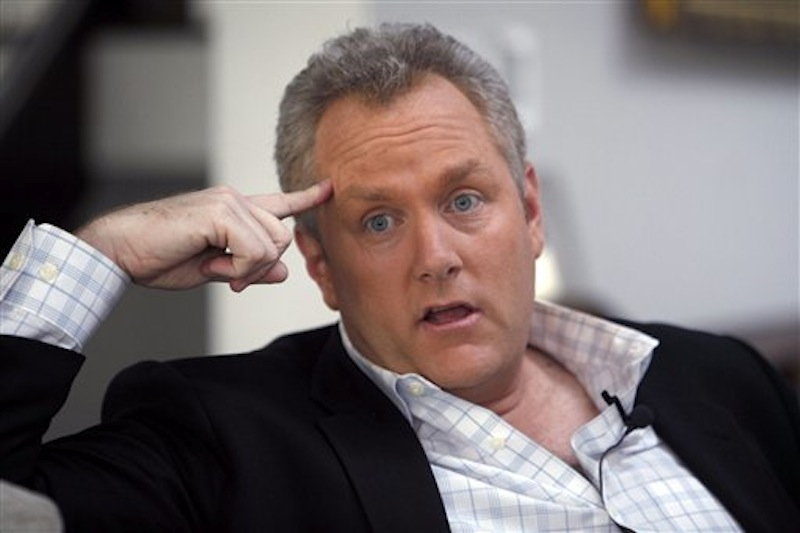 In this Feb. 11, 2010 photo, conservative media publisher and activist Andrew Breitbart is seen during an interview with the Associated Press at his home in Los Angeles. Breitbart, who was behind investigations that led to the resignations of former Rep. Anthony Weiner and former Agriculture Department official Shirley Sherrod, died Thursday, March 1, 2012 in Los Angeles. He was 43. (AP Photo/Reed Saxon, File)