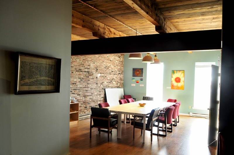 This conference room in downtown Gardiner, is part of the CoLab office space.