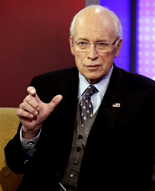 In this Aug. 31, 2011 photo, former Vice President Dick Cheney is interviewed in New York. Cheney is recovering after having a heart transplant, which has re-ignited a debate about age and scarce organs. (AP Photo/Richard Drew)