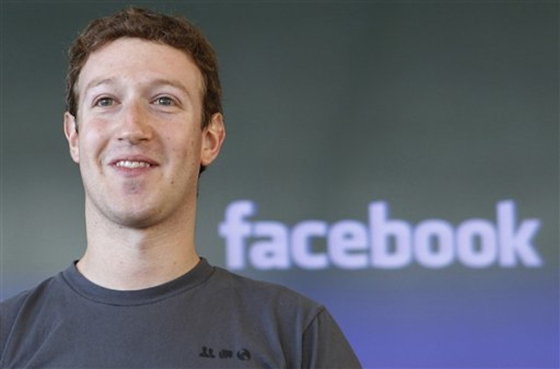 "This Oct. 15, 2011 photo shows Facebook CEO Mark Zuckerberg during a meeting in San Francisco. Attorneys for Facebook on Monday, March 26, 2012 sought the dismissal of what they called an ""opportunistic and fraudulent"" lawsuit by a New York man claiming half-ownership of the social networking site. (AP Photo/Paul Sakuma, File)"