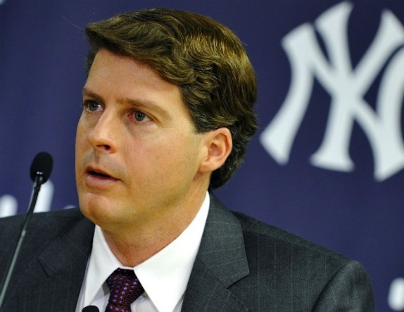 New York Yankees general managing partner Hal Steinbrenner says he'd like to lower the Yankees payroll to $189 over the next few years to avoid the luxury tax. (AP Photo)