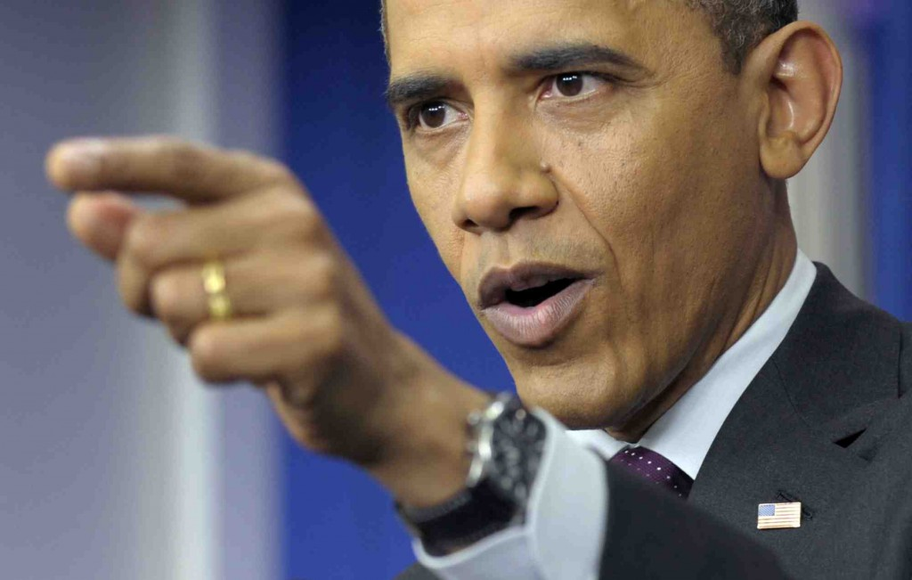 President Obama takes a question Tuesday during a press conference at the White House.
