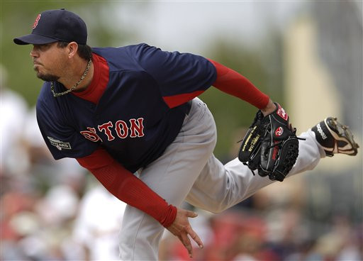 Boston Red Sox starting pitcher Josh Beckett pitched two scoreless innings, allowing two hits, in the Red Sox' 9-3 loss to the St. Louis Cardinals on Thursday at Roger Dean Stadium in Jupiter, Fla.