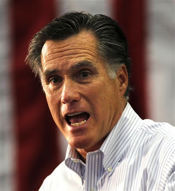 Republican presidential candidate Mitt Romney speaks at a town hall meeting at Capital University in Bexley, Ohio on Wednesday, Feb. 29, 2012. (AP Photo/Gerald Herbert)