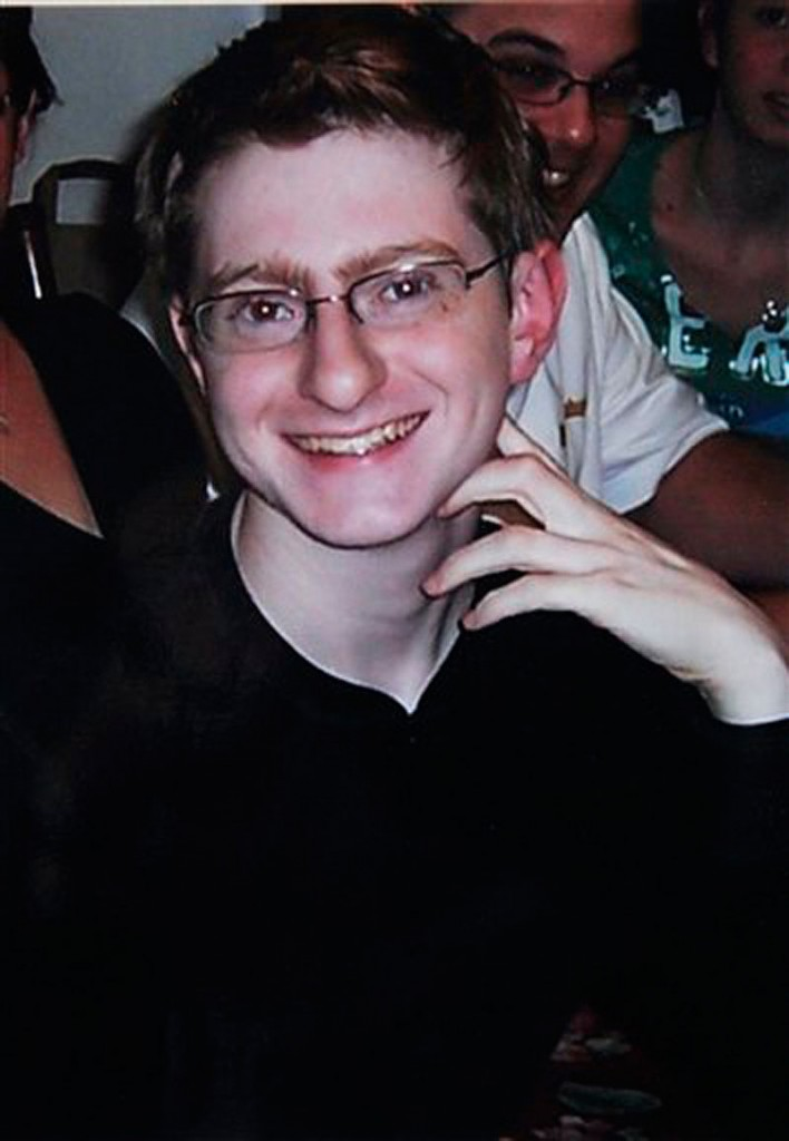 This undated file photograph provided by Joseph and Jane Clementi shows their son Tyler Clementi at a family function. Dharun Ravi, a former Rutgers University student accused of using a webcam to spy on his gay roommate's love life was convicted Friday, March 16, 2012, of bias intimidation and invasion of privacy of Clementi. (AP Photo/Clementi Family, File)